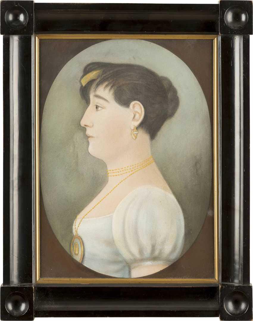 UNBEKANNTER PORTRAITIST Tätig im 19. Jahrhundert - photo 2