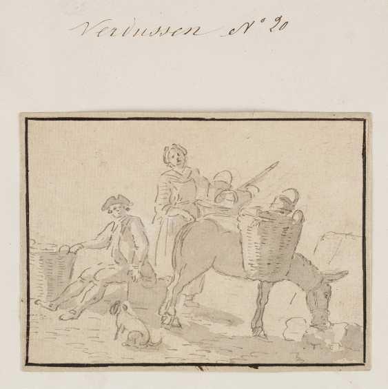 JAN PEETER VERDUSSEN (ATTR.) Ca. 1700 Antwerpen - 1763 Avignon 7 ZEICHNUNGEN (FIGURENSTUDIEN) - photo 1