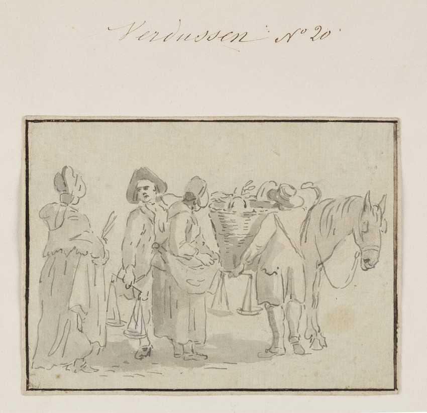 JAN PEETER VERDUSSEN (ATTR.) Ca. 1700 Antwerpen - 1763 Avignon 7 ZEICHNUNGEN (FIGURENSTUDIEN) - photo 2