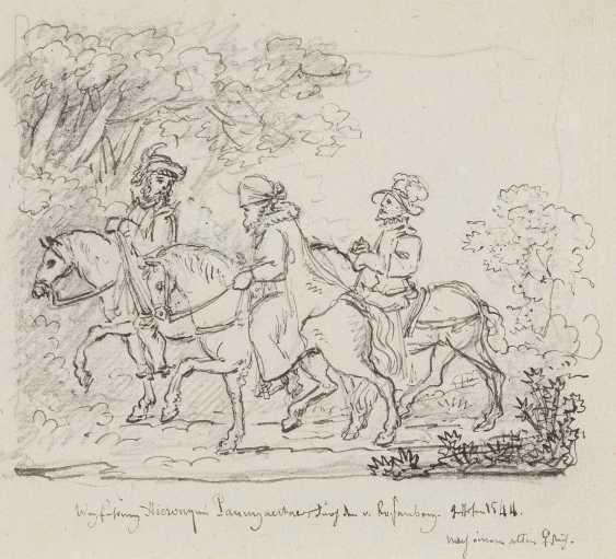 UNBEKANNTE ZEICHNER Tätig im 19. Jahrhundert 4 FIGURENSTUDIEN - photo 1