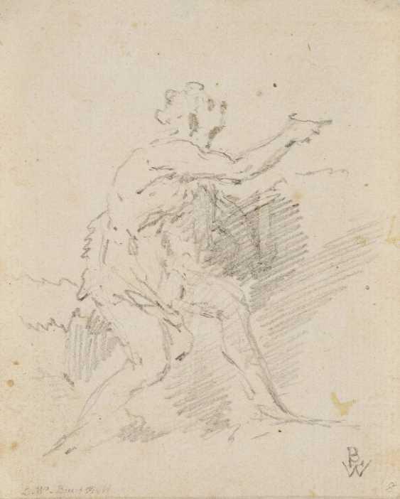 UNBEKANNTE ZEICHNER Tätig im 19. Jahrhundert 4 FIGURENSTUDIEN - photo 3