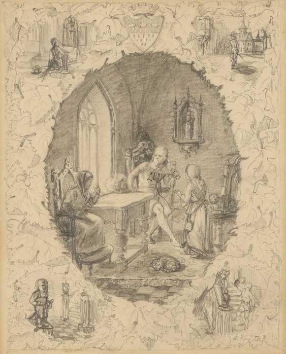 LUDWIG RICHTER 1803 Dresden - 1884 ebenda 3 KOMPOSITIONSSTUDIEN - photo 1