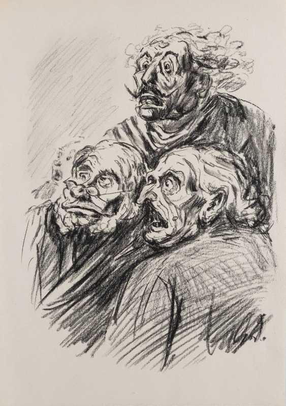 DEUTSCHER ZEICHNER Tätig 1. Hälfte 20. Jahrhundert ZWEI MAPPEN MIT ZEICHNUNGEN NACH DAUMIER - photo 3
