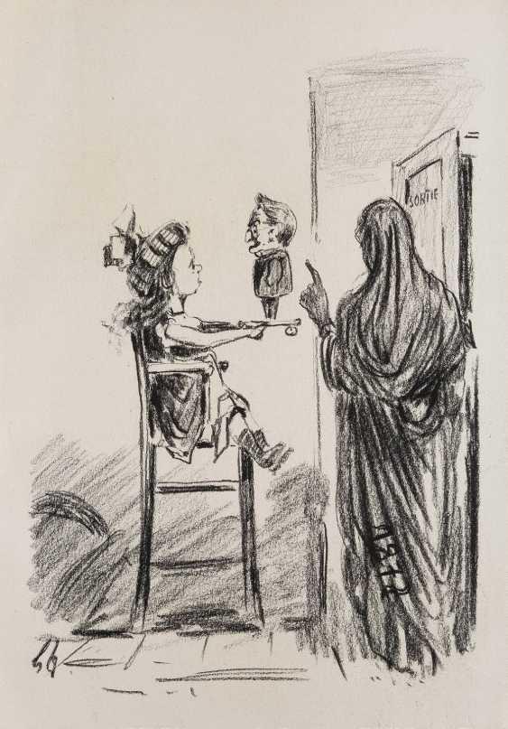 DEUTSCHER ZEICHNER Tätig 1. Hälfte 20. Jahrhundert ZWEI MAPPEN MIT ZEICHNUNGEN NACH DAUMIER - photo 6