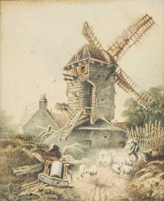 UNBEKANNTE AQUARELLISTEN Tätig im 19. Jahrhundert 2 LANDSCHAFTEN - photo 3