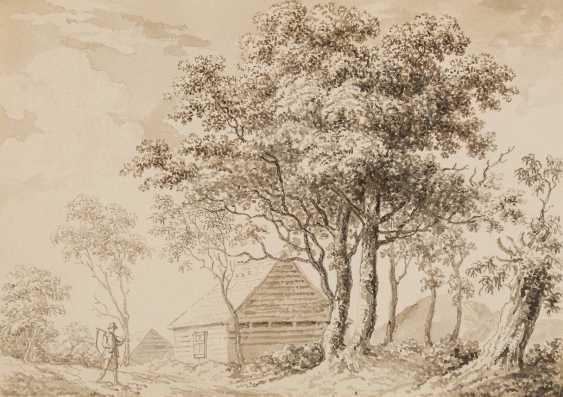 DEUTSCHE LANDSCHAFTSMALER Tätig im 19. Jahrhundert 5 LANDSCHAFTEN MIT FIGURENSTAFFAGE - photo 1
