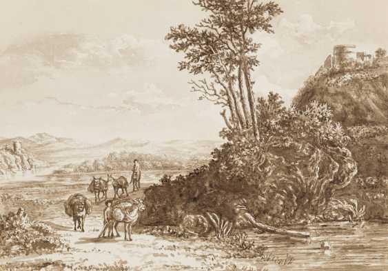 DEUTSCHE LANDSCHAFTSMALER Tätig im 19. Jahrhundert 5 LANDSCHAFTEN MIT FIGURENSTAFFAGE - photo 3