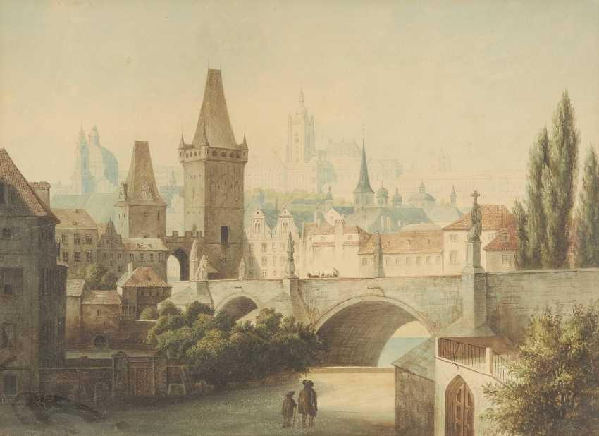 UNBEKANNTER AQUARELLIST Tätig im 19. Jahrhundert - photo 1