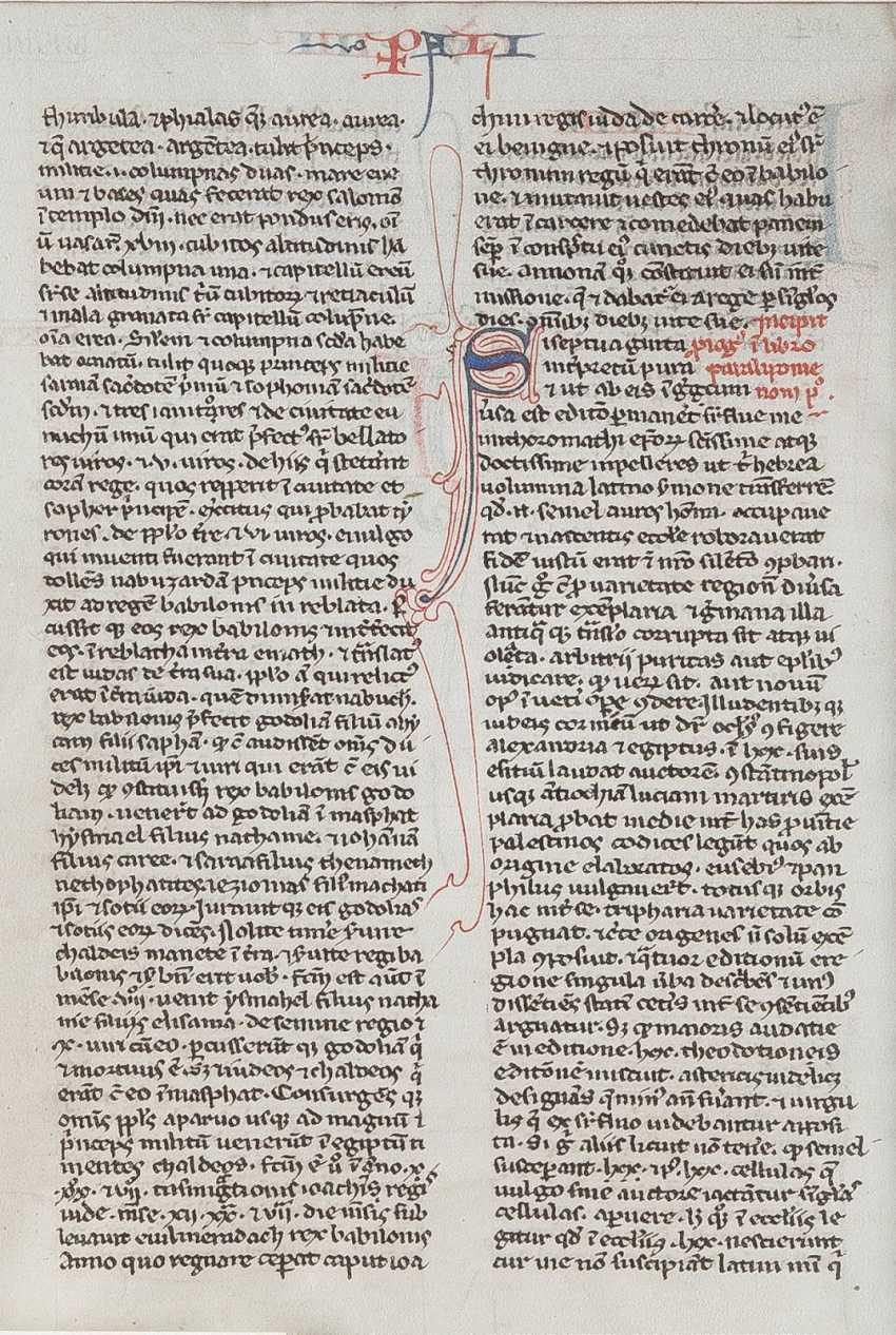 EINZELSEITE AUS EINER BIBEL Frankreich, 15. Jahrhundert - photo 2