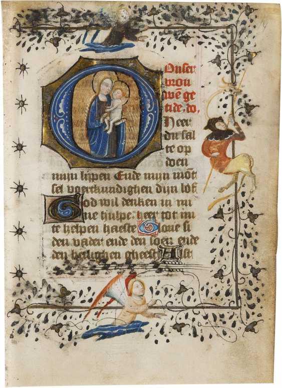 EINZELSEITE AUS EINEM STUNDENBUCH Niederlande, Ende 15. Jahrhundert - photo 1