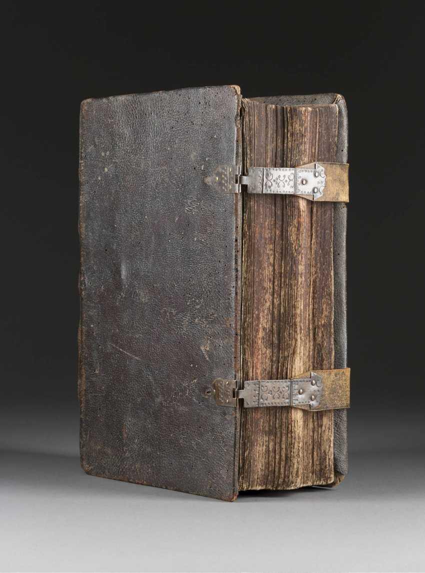 DIE BIBEL Deutsch, Nürnberg, um 1770 Als Beigabe Holzkreuz (um 1900). - photo 1