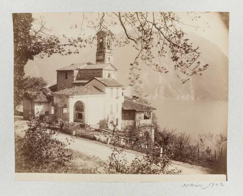 LEDERTRUHE MIT KUNST- UND KULTURFOTOGRAFIEN Deutsch, um 1900 - photo 3