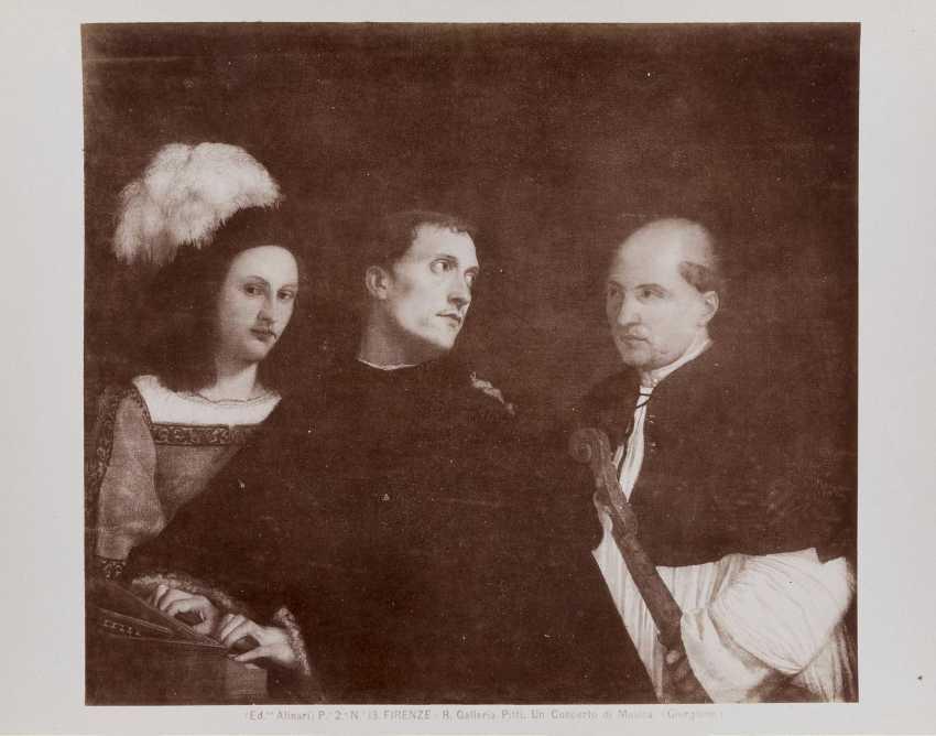 LEDERTRUHE MIT KUNST- UND KULTURFOTOGRAFIEN Deutsch, um 1900 - photo 6