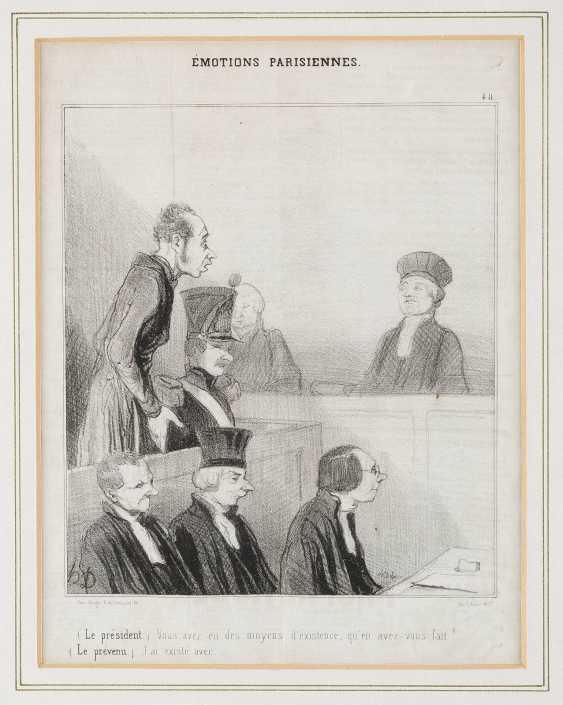 HONORÉ DAUMIER (NACH) 1808 Marseille - 1879 Valmondois KONVOLUT AUS 11 BLATT ZEITUNGSSATIRE UND 1 AQUATINTA - photo 1