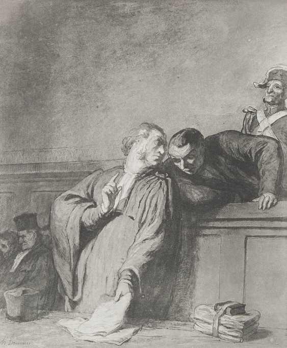 HONORÉ DAUMIER (NACH) 1808 Marseille - 1879 Valmondois KONVOLUT AUS 11 BLATT ZEITUNGSSATIRE UND 1 AQUATINTA - photo 2