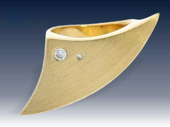 Ring: moderner, sehr massiver und interessant gefertigter Designer-Brillantring - photo 2