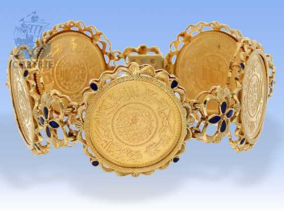 Armband: außergewöhnliches vintage Münzarmband, signiert Fabor, 18K Gold - photo 1