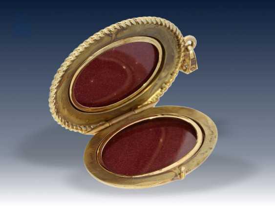 Anhänger: ausgefallener und sehr hochwertiger vintage Medaillonanhänger, Handarbeit Victor Mayer Pforzheim - photo 2