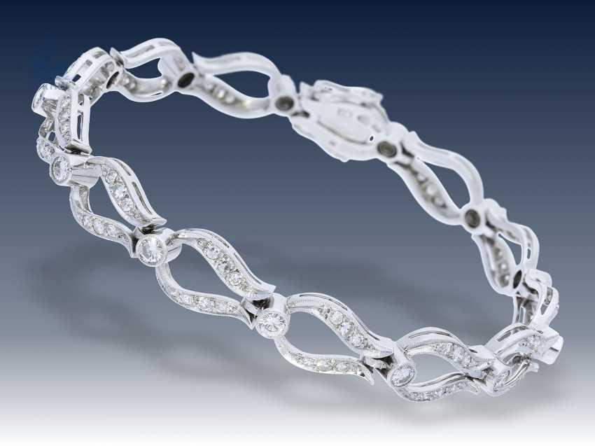 Armband: ausgefallenes, äußerst dekoratives vintage Diamant-Goldschmiedearmband, ca. 2,6ct, Schweden 1960 - photo 1