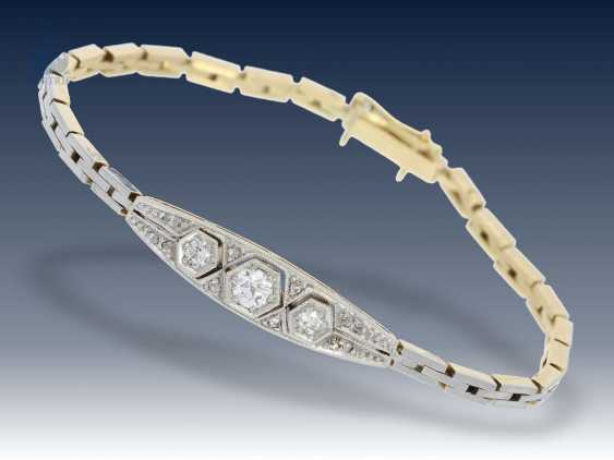 Armband/Brosche/Ring: interessantes Konvolut Antikschmuck, ca.0,8ct - photo 4