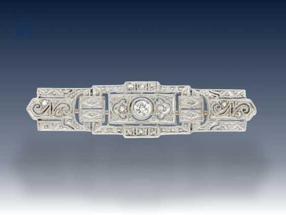 Armband/Brosche/Ring: interessantes Konvolut Antikschmuck, ca.0,8ct - photo 5