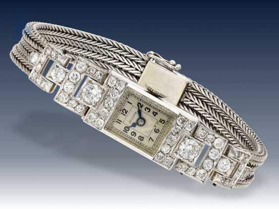 Armbanduhr: Art déco Diamantuhr aus Platin, 30er Jahre - photo 1