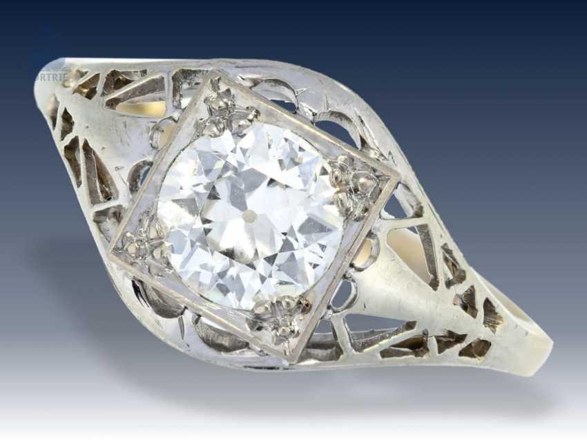 Ring: antiker, filigran gefertigter Diamant/Goldschmiedering, Handarbeit um 1900, Wertgutachten über 6400€ - photo 1