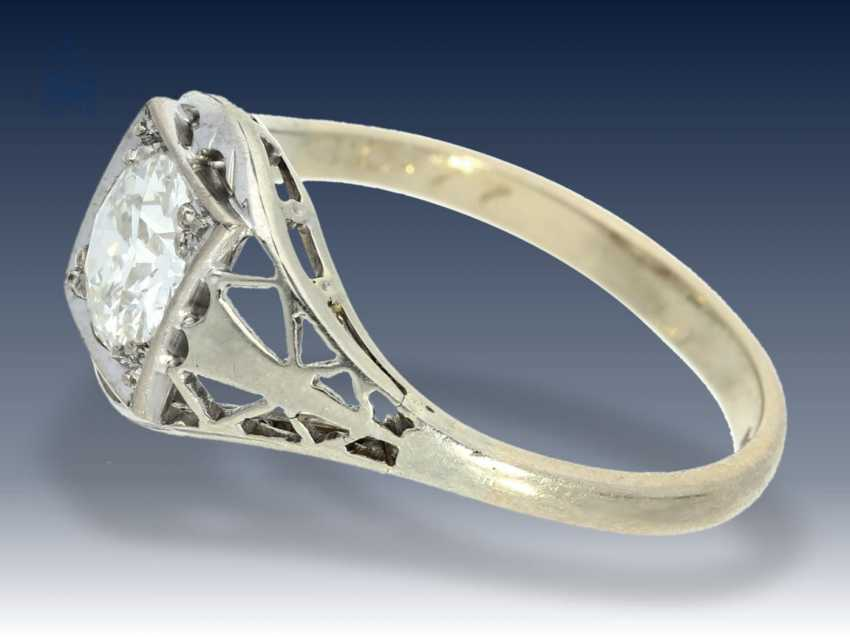 Ring: antiker, filigran gefertigter Diamant/Goldschmiedering, Handarbeit um 1900, Wertgutachten über 6400€ - photo 2