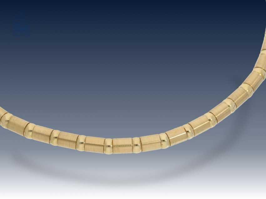 Kette/Collier: modernes, hochwertiges und dekoratives Goldcollier mit interessantem Design - photo 1