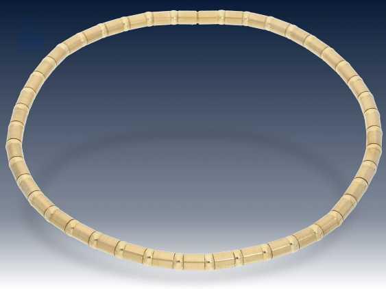 Kette/Collier: modernes, hochwertiges und dekoratives Goldcollier mit interessantem Design - photo 2