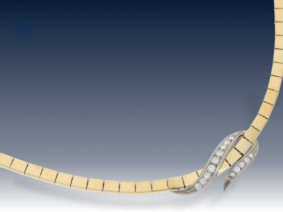 Kette/Collier: elegantes vintage Brillant-Collier, 18K Gold - photo 2