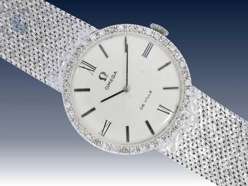 Armbanduhr: seltene vintage Herrenuhr mit hochwertigem Diamantbesatz, Omega De Ville, 70er Jahre - photo 1