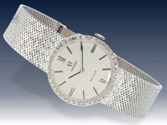 Armbanduhr: seltene vintage Herrenuhr mit hochwertigem Diamantbesatz, Omega De Ville, 70er Jahre - photo 2