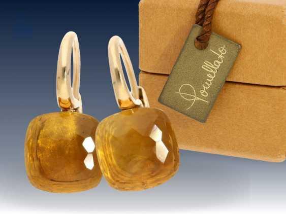 """Ohrringe: elegante und hochwertige Citrin-Ohrringe, Markenschmuck von Pomellato """"Nudo"""", 18K Gold, NP 3800€, mit Originalbox - photo 1"""
