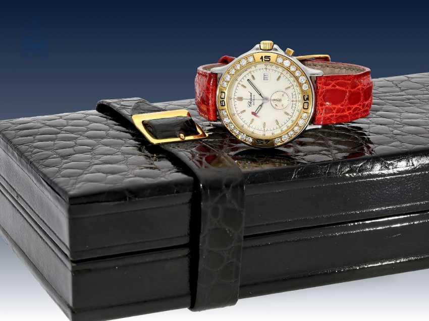 "Armbanduhr: edler Damenchronograph, Chopard ""Mille Miglia Diamonds"" Ref.8163 mit Box & Papieren, 90er Jahre - photo 1"