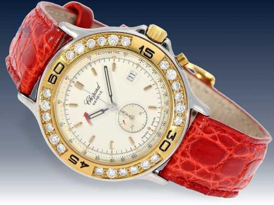 "Armbanduhr: edler Damenchronograph, Chopard ""Mille Miglia Diamonds"" Ref.8163 mit Box & Papieren, 90er Jahre - photo 2"
