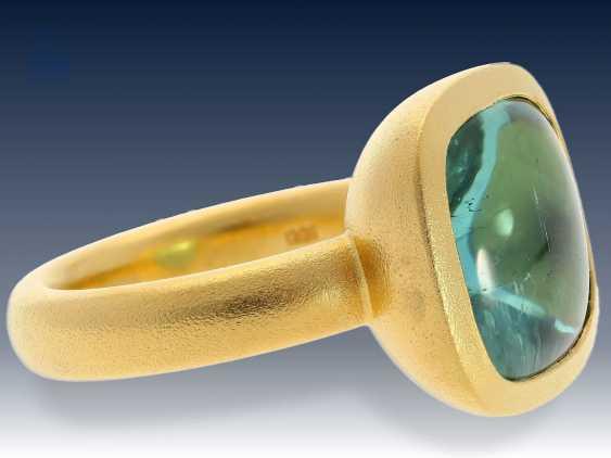 Ring: neuwertiger, ehemals sehr teurer Goldschmiedering mit großem Turmalin von 13,3ct, erstklassige Handarbeit - photo 1