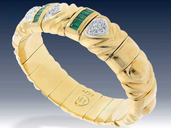 Armband: schwerer, exquisiter Smaragd/Brillant-Armreif von Wempe, mit Wempe-Zertifikat - photo 2