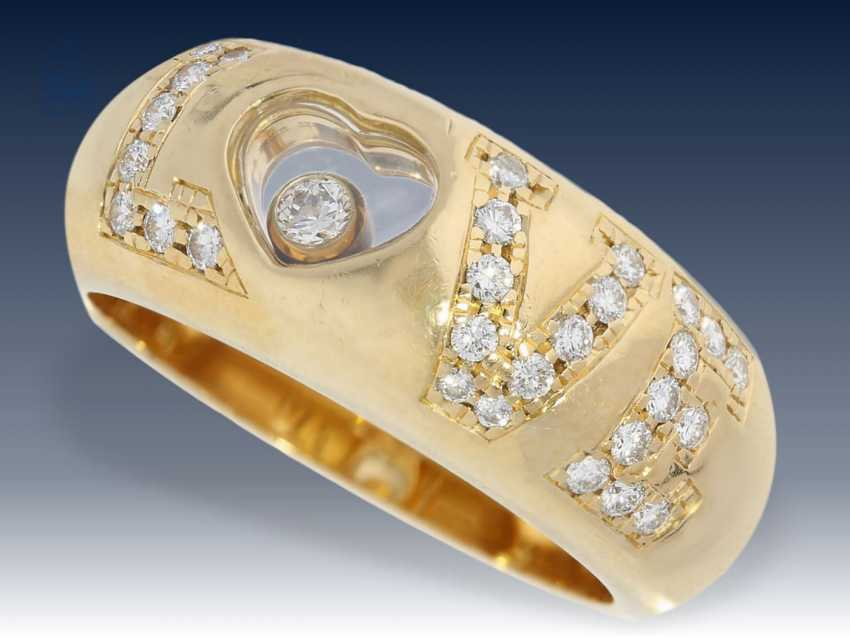 "Ring: hochwertiger Chopard Brillantring ""Happy Diamonds - Love Heart"", signiert und nummeriert - photo 1"