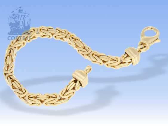 Armband: äußerst schweres, massives Königsarmband in 14K Gelbgold - photo 1