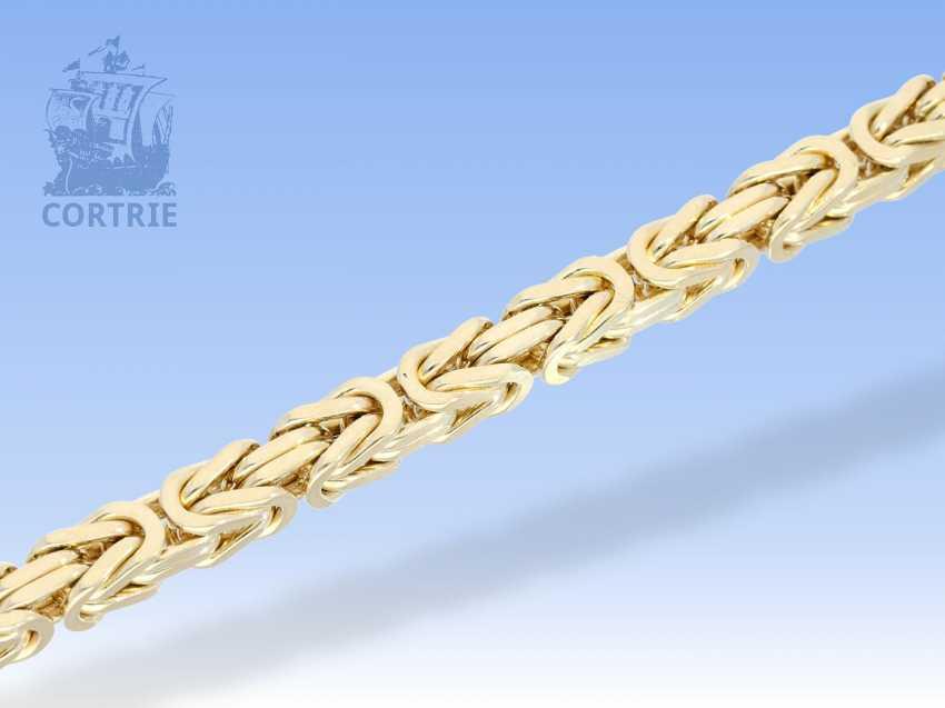 Armband: äußerst schweres, massives Königsarmband in 14K Gelbgold - photo 2
