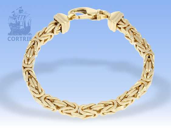 Armband: äußerst schweres, massives Königsarmband in 14K Gelbgold - photo 3