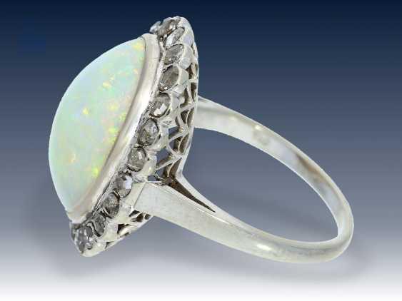 Ring: sehr wertvoller Opal/Diamantring, vermutlich um 1950 - photo 2