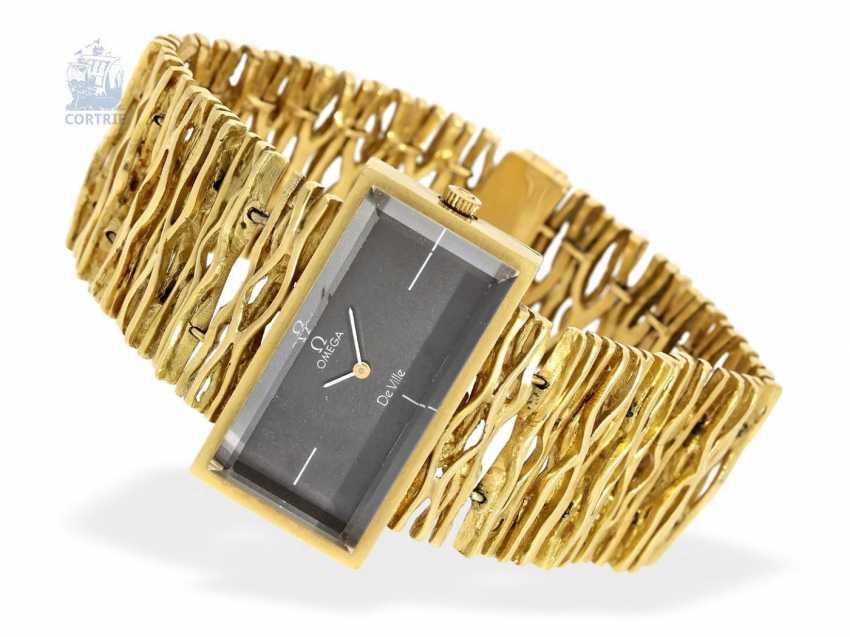 Armbanduhr: extrem seltene Designeruhr von Omega, Ref. 8270, 70er Jahre - photo 1