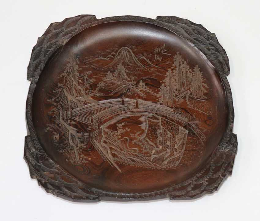 Japan wooden plate - photo 1