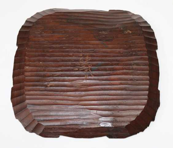 Japan wooden plate - photo 2