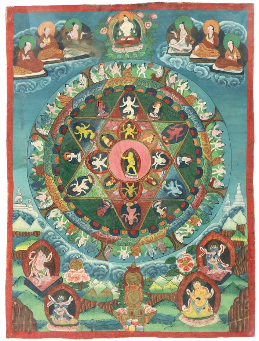 Buddha mandala wheel of life - photo 1