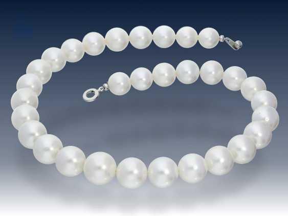 Kette: außergewöhnliche Südsee-Zuchtperlen-Kette/Perlenstrang mit besonders großen hochwertigen Perlen bis zu ca. Ø16mm, neuwertig, NP lt. Einlieferer ca.10000€ - photo 1