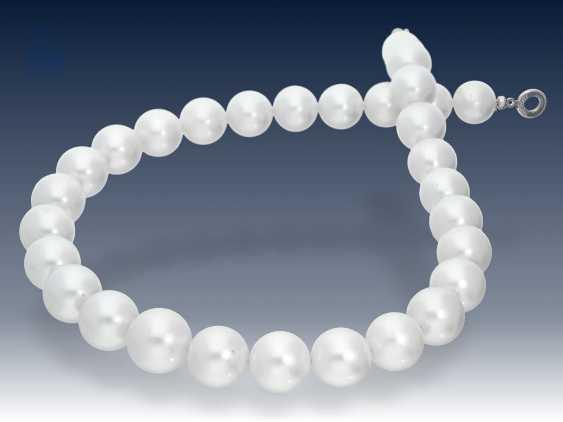 Kette: außergewöhnliche Südsee-Zuchtperlen-Kette/Perlenstrang mit besonders großen hochwertigen Perlen bis zu ca. Ø16mm, neuwertig, NP lt. Einlieferer ca.10000€ - photo 2