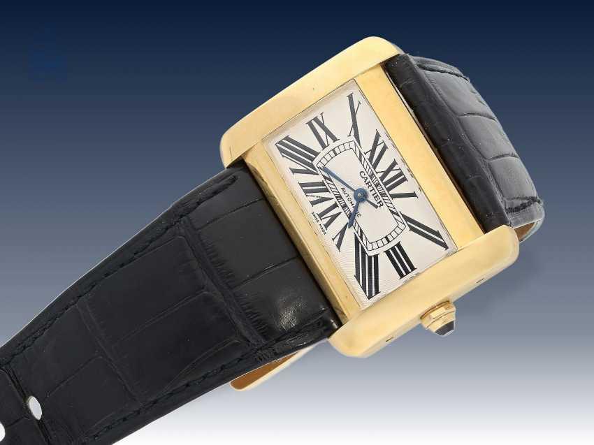 Armbanduhr: hochwertige automatische Herrenuhr, Cartier Tank Divan XL, Ref:2603, 18K Gold, ca.2005 - photo 1